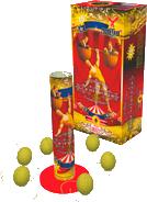 Фейерверк Пиротехника ГалактикаОдиночные салюты<br>Разноцветный пион, желтый пион, белое мерцание, большая трещащая хризантема, зеленая волна, красная волна.<br>Тип: фейерверк; Вид фейерверка: одиночный салют; Время работы с: 10; Высота разрыва м: 50; Количество залпов: 6; Калибр дюймы: 1.50; Ширина см: 16; Высота см: 36; Глубина см: 10; Вес кг: 0.55;
