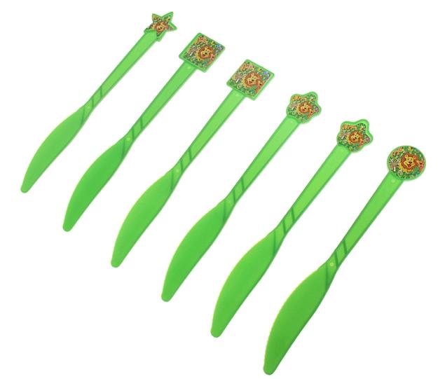 Фейерверк Набор пластиковых ножей Звери, (набор 6 шт), цвет зеленыйПредметы сервировки<br><br>Тип: фейерверк; Вид фейерверка: предмет сервировки; Высота см: 0;