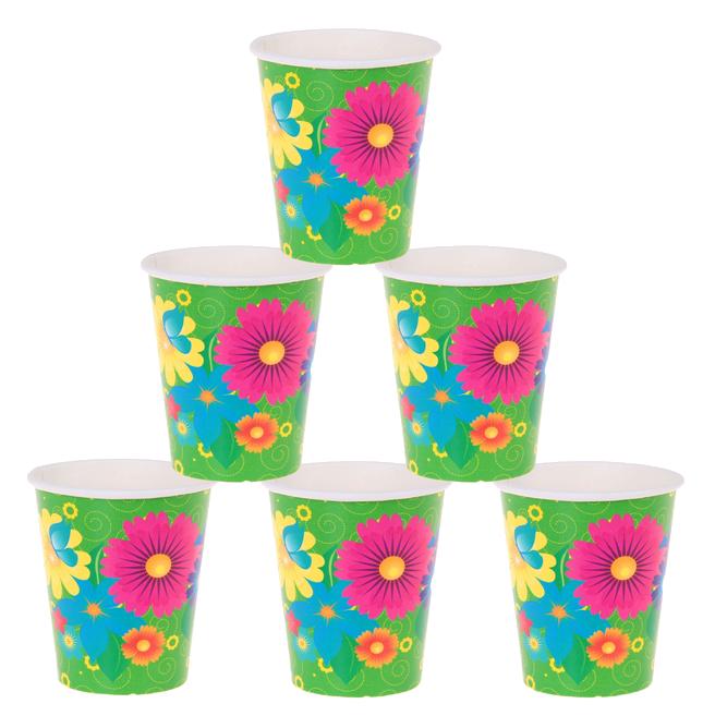 Фейерверк Набор бумажных стаканов Цветы, 225 мл (6 шт.)Предметы сервировки<br><br>Тип: фейерверк; Вид фейерверка: предмет сервировки; Высота см: 0;