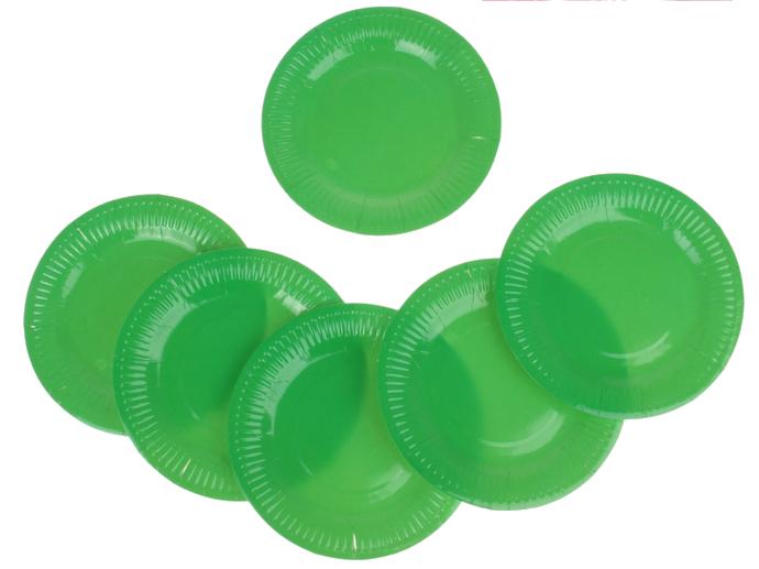 Фейерверк Тарелка круглая, набор 6 шт, 18 см, цвет: зеленыйПредметы сервировки<br><br>Тип: фейерверк; Вид фейерверка: предмет сервировки; Высота см: 0;
