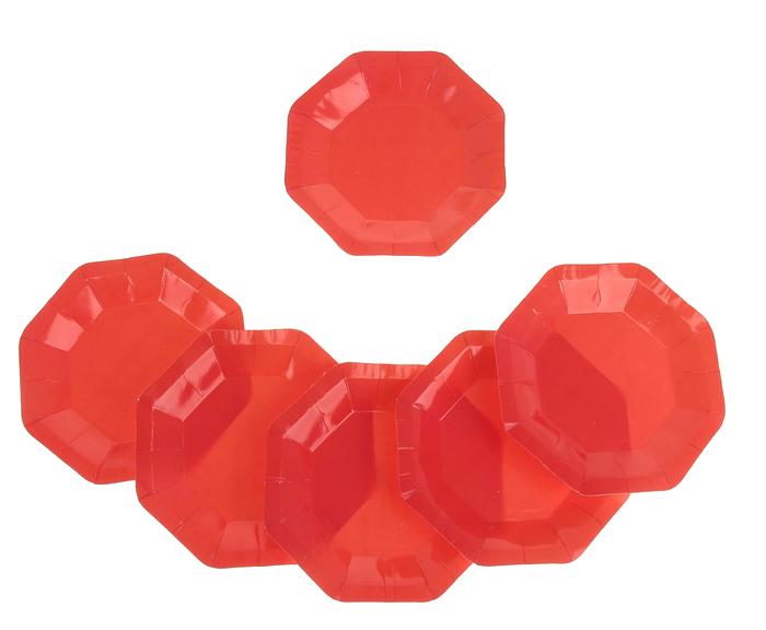 Фейерверк Тарелка, набор 6 шт, 18 см, цвет: красныйПредметы сервировки<br><br>Тип: фейерверк; Вид фейерверка: предмет сервировки; Высота см: 0;