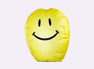 Купить со скидкой Фейерверк Шар Желаний желтый смайлик Д 49
