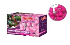Фото #1: Фейерверк Электрогирлянда Жемчужные минишарики 80 розовых светодиодов