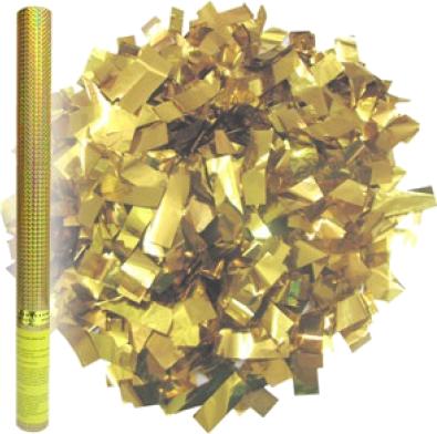 Купить со скидкой Фейерверк Пневмохлопушка в пластиковой тубе Золотое конфетти 60 см